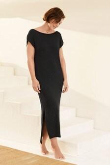 Black Emma Willis Scoop Back Dress