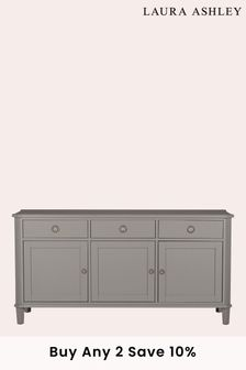 Pale Charcoal Henshaw Pale Charcoal 3 Door 3 Drawer Sideboard by Laura Ashley