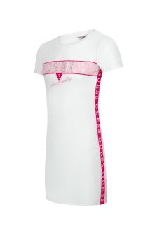 Guess Girls White Cotton Dress