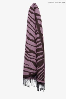 French Connection Desert Rose/Decadenc Tiger Jacquard Scarf