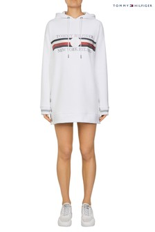 Tommy Hilfiger White Icon Hoody Dress