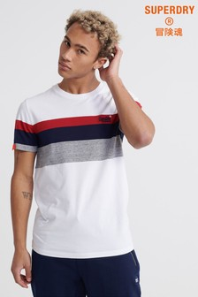 Superdry White Stripe T-Shirt