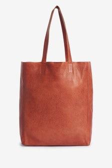 Tan Leather Shopper Bag
