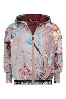 Girls Pink Floral Jacket