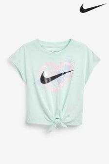 Nike Little Kids Mint Tie Front Boxy T-Shirt
