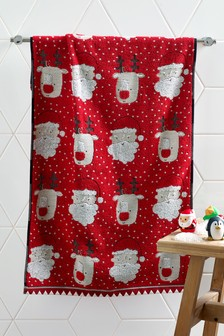 Santa And Rudolph Towel
