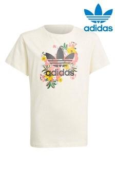 adidas Originals Floral Trefoil T-Shirt