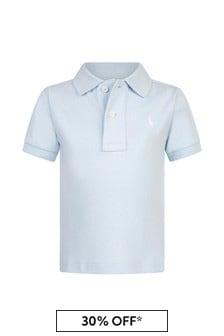 Baby Boys Blue Cotton Poloshirt