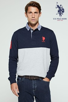 U.S. Polo Assn. Quilted Rugby Top