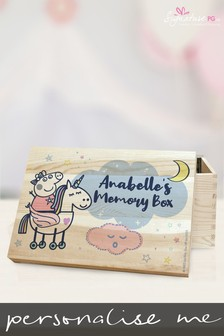 Personalised Peppa Pig™ Memory Box Gift Set by Signature PG