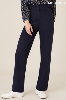 Monsoon Blue Smart Tapered Trousers