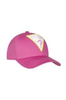 قبعة كاب قطن وردي بناتي