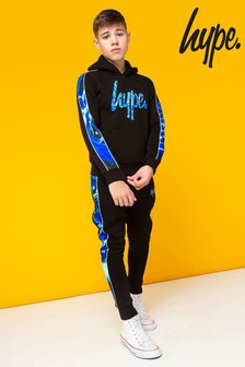 Hype. Spiral Abstract Panelled Joggers