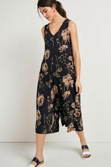 Blush Floral Culotte Jumpsuit