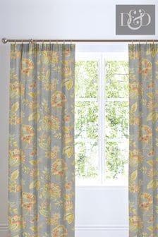 D&D Marinelli Floral Pencil Pleat Curtains