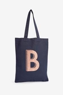 Navy Organic Cotton Reusable Bag For Life