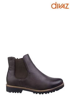 Divaz Brown Grace Ladies Chelsea Boots