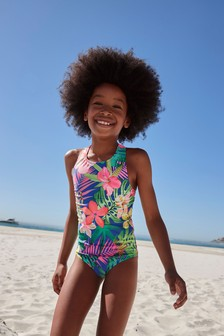 Cobalt Palm Swimsuit (3-16yrs)