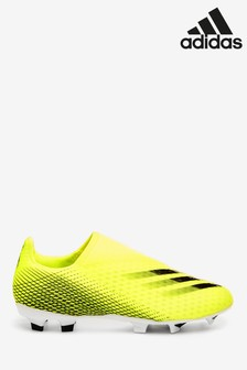 adidas Yellow X P3 Laceless Firm Ground Football Boots