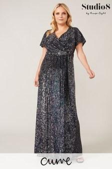 Studio 8 Grey Amily Sequin Maxi Dress