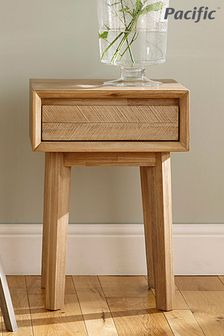 Pacific Lifestyle Sand Wash Acacia Wood 1 Drawer Bedside Unit