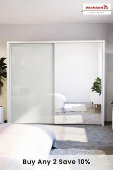 White-mirror Peyton  Extra Large Sliding Wardrobe