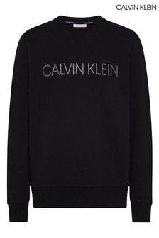 Calvin Klein Black Tonal Embroidery Sweatshirt