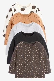 Monochrome 5 Pack Basic T-Shirts (3mths-7yrs)