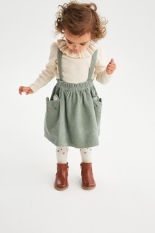 Green Character Cord Skirt With Tights (3mths-7yrs)