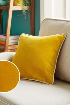 100% Cotton Velvet Small Square Cushion