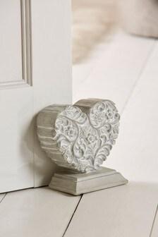 Pretty Vintage Heart Doorstop