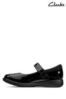Clarks Black Patent Etch Spark Shoe
