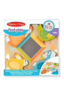Melissa & Doug Touch & Feel Peek-A-Boo Pets Puzzle