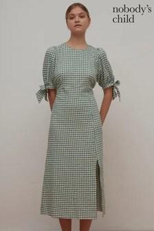 Nobody's Child Esme Mint Gingham Midi Dress