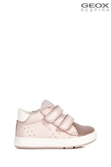 Geox Baby Girls Biglia Rose/White Shoes