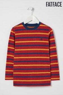 FatFace Red Multi Stripe T-Shirt