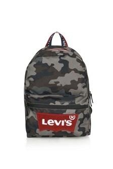 Boys Camouflage Batwing Logo Backpack