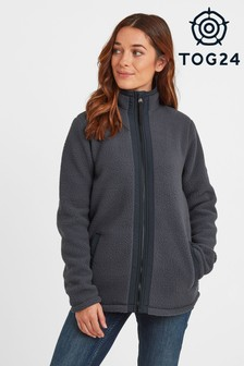Tog 24 Womens Blue Flores Sherpa Zip Neck Fleece