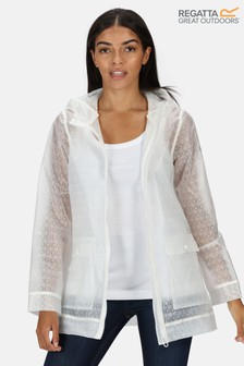 Regatta White Takala II Transparent Waterproof Jacket
