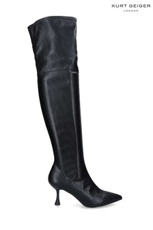 Kurt Geiger London Black Rocco Over The Knee Boots