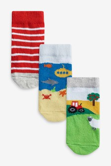Multi 3 Pack Farm Socks (Younger)