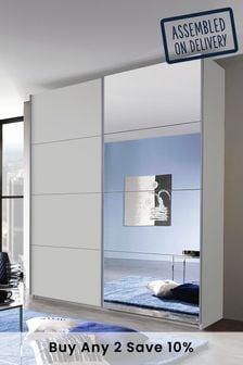 Silk Grey Mirror Cameron 1.81m Sliding WardrobeBy Rauch