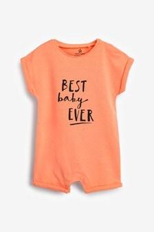 Fluro Best Baby Ever Romper (0mths-3yrs)