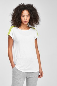 Ecru Colourblock Neppy Short Sleeve Sports Top