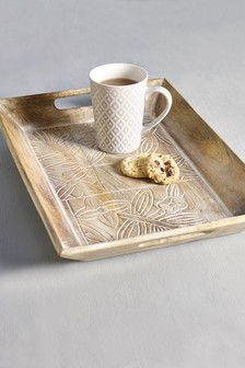 Floral Wooden Tray