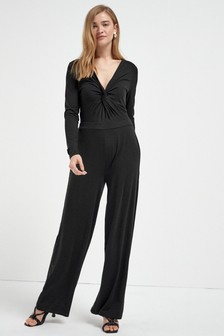 Black Jersey Jumpsuit