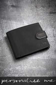 Personalised Black Wallet