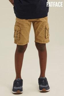 FatFace Natural Lulworth Cargo Shorts