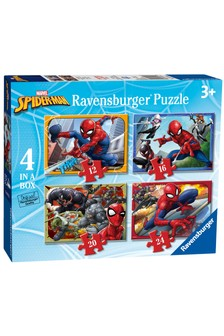 Ravensburger Marvel® Spider-Man™ 4 in a Box 12, 16, 20, 24 Piece Jigsaws