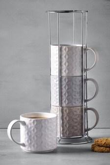Set of 4 Kendall Stacking Mugs